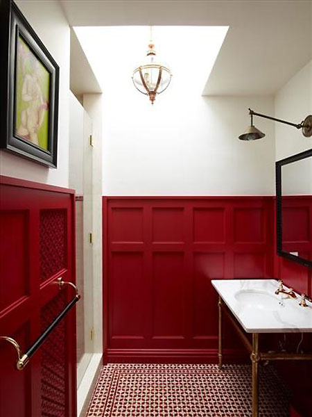 Photo Credit Wainscot Solutions Red And White Wainscot  Canandian House And Home